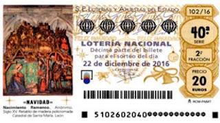 detalle de los décimos del último gordo de navidad caído en Madrid