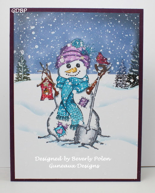 ODBD White As Snow Stamp/Die Duo, ODBD Customer Card of the Day Created by Beverly Polen aka guneauxdesigns