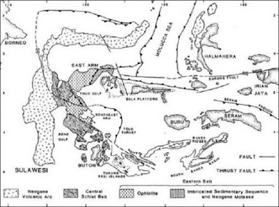 pembagian jalur fisiografi pulau sulawesi