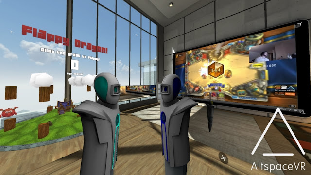 Social virtual reality app AltspaceVR currently available for Equipment VR