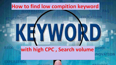 how to find low comptition keyword