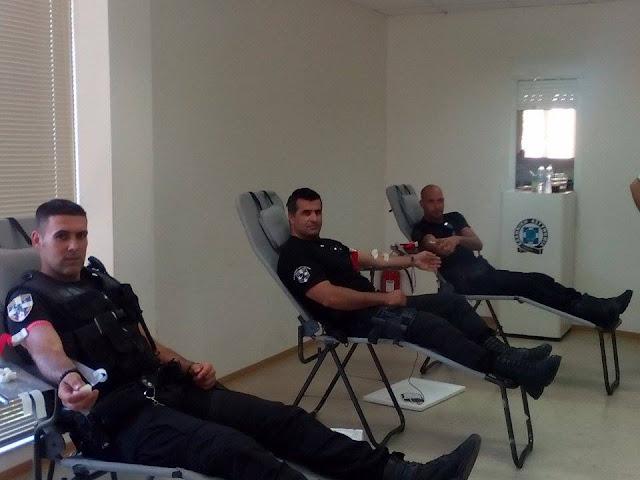 Αστυνομικοί της Αργολίδας έδωσαν αίμα