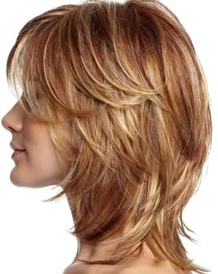 Style rambut segi trap pendek layer sebahu