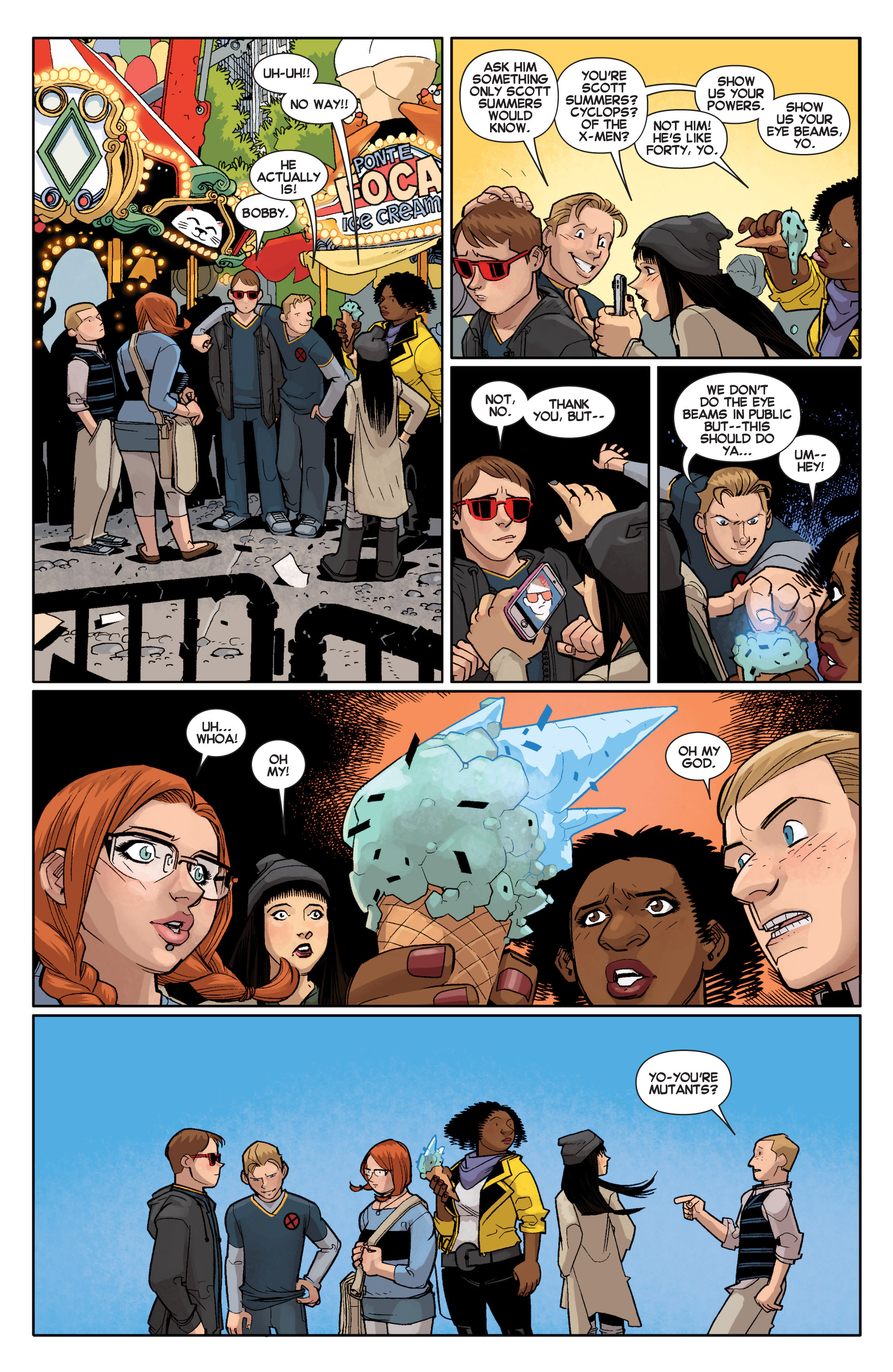 Read online All-New X-Men (2013) comic -  Issue # _Special - Out Of Their Depth - 100