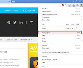 Cara Menyimpan Halaman Web untuk Dibaca Offline