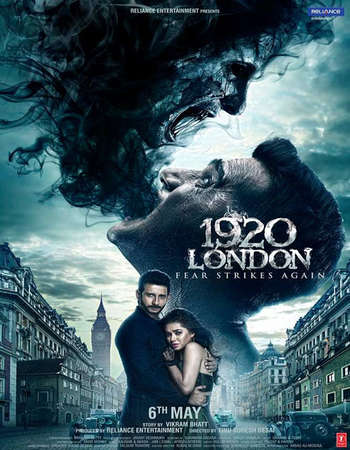 Poster Of 1920 London 2016 Hindi 350MB DVDScr 480p Watch Online Free Download Worldfree4u
