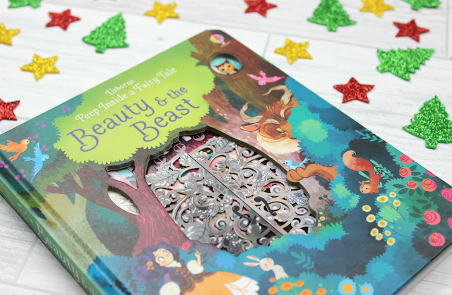 A review of Usborne Books Peep Inside a Fairy Tale Beauty and the Beast Board Book