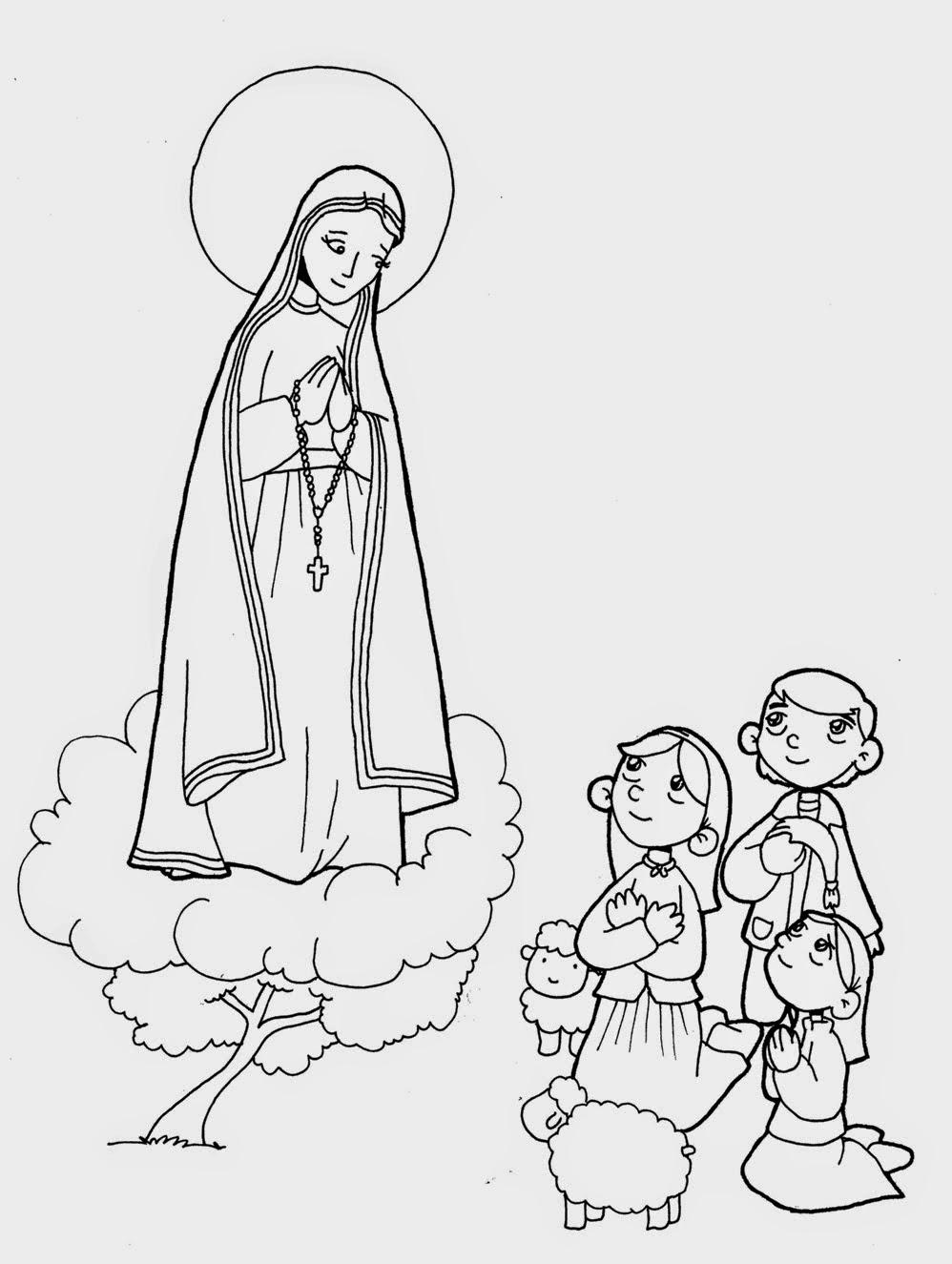 Virgen María Ruega Por Nosotros Virgen Maria Para Colorear