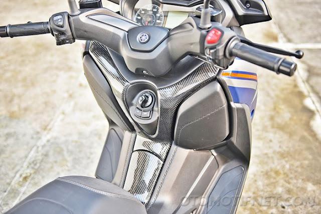 Foto Modifikasi Yamaha XMAX Desain Captain America