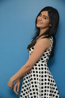 Actress Adah Sharma Latest Pictures in Polka Dot Falbala Sleeveless Dress  0006.jpg