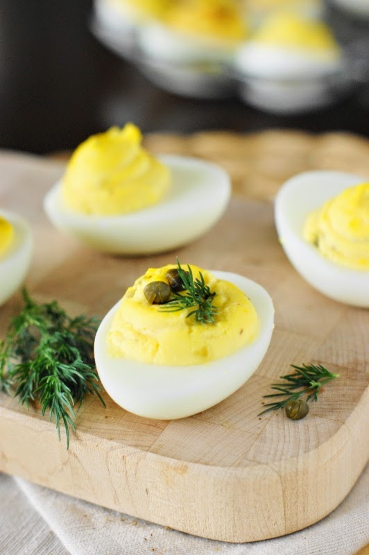 Deviled Egg Garnishes ~ Capers & Fresh Dill