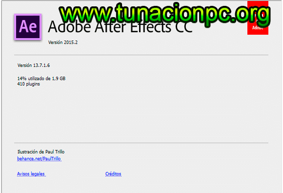 Adobe After Effects CC 2015 para windows y macos