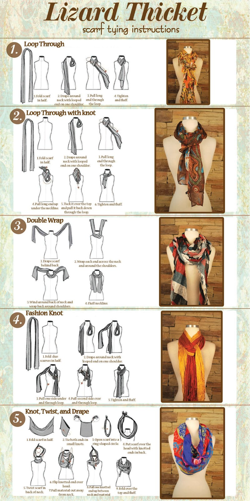 Lizard Thicket: Tons of New Scarves Just Arrived at Lizard