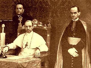 Walerian Meysztowicz, Pius XII, mons. Montini (póżniej Paweł VI) - fot kuriergalicyjski.com