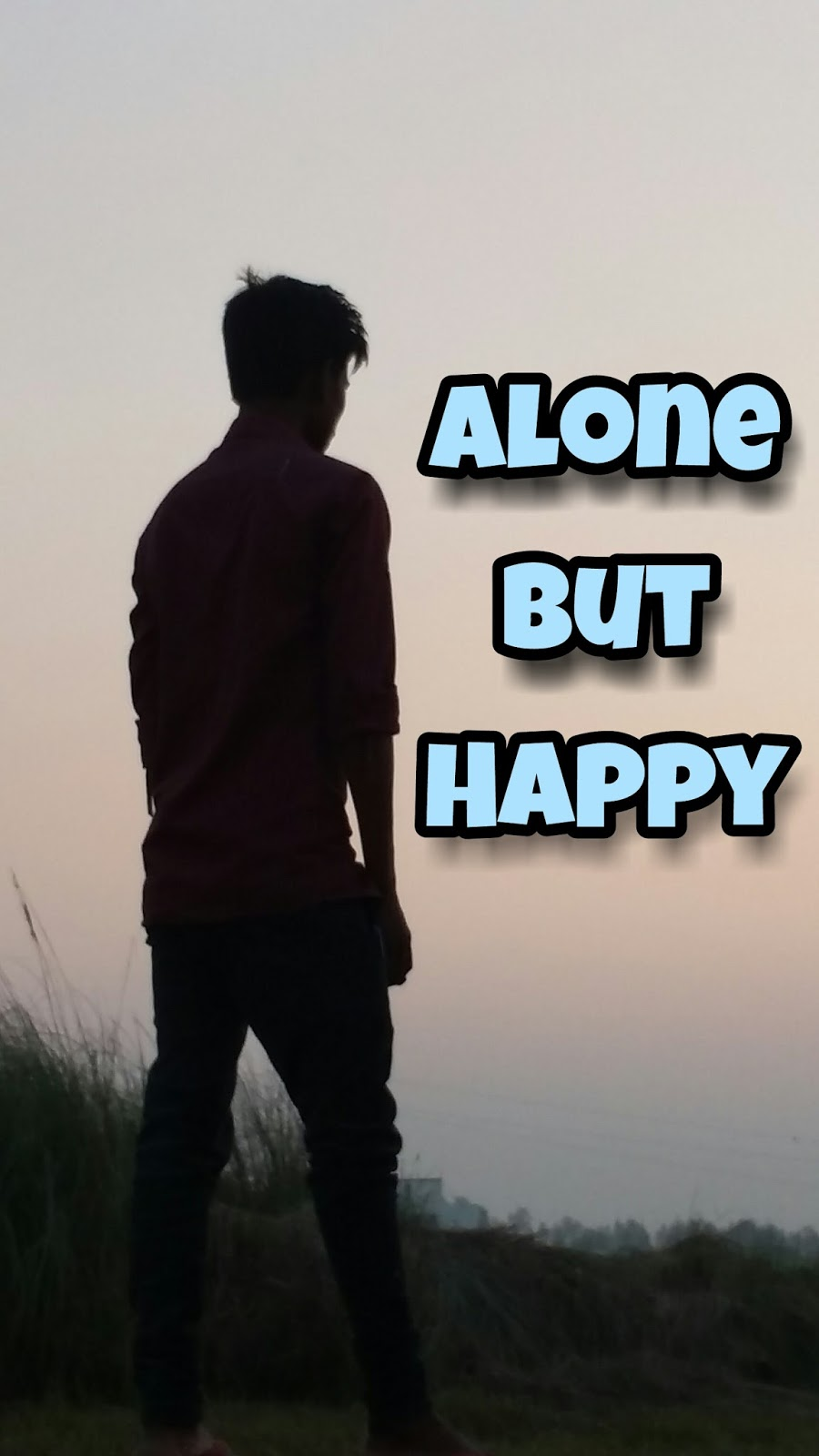 I Am Alone But Happy Images Natural Wallpaper GKP:...