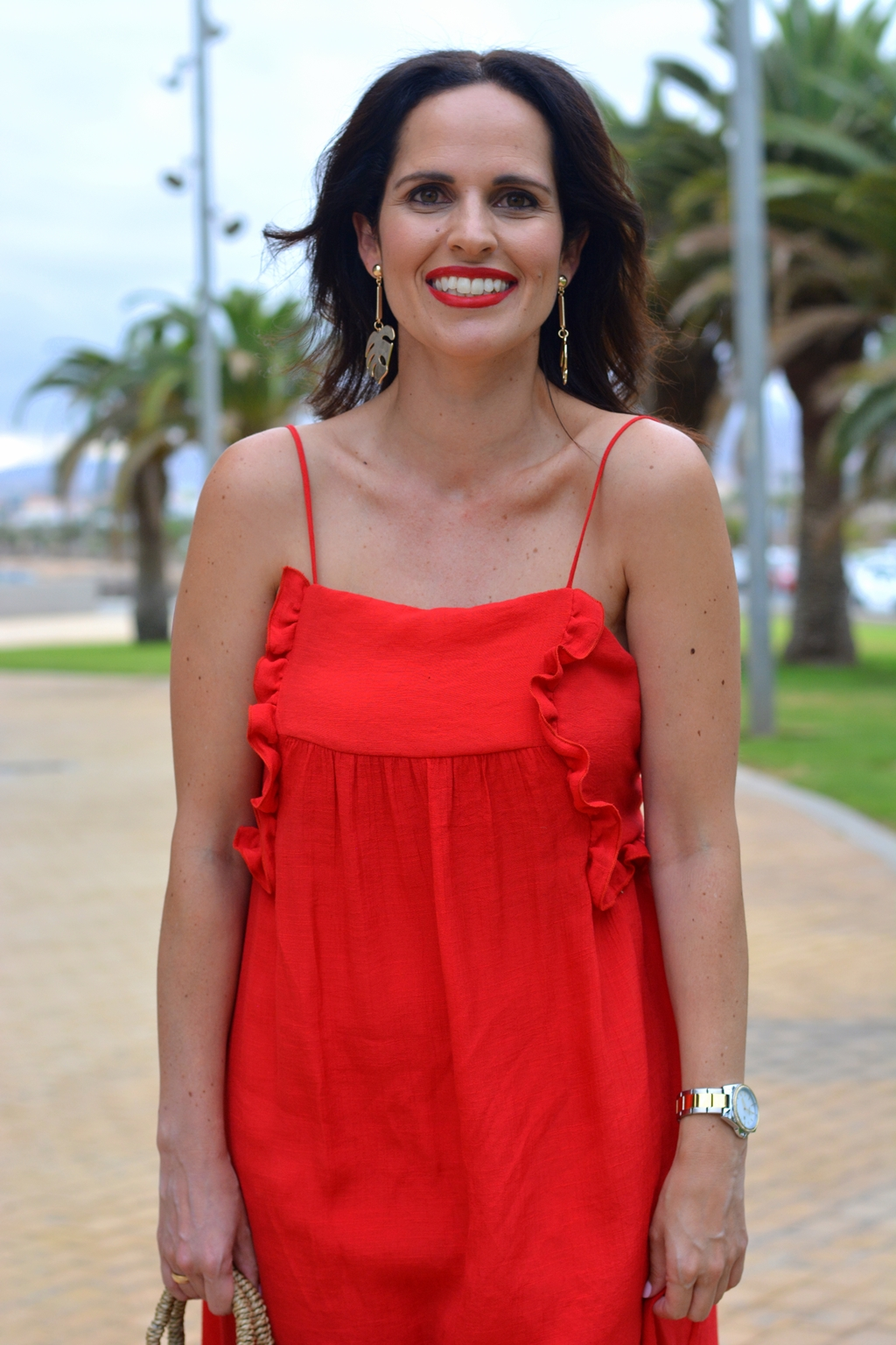 zara-red-dress-outfit-streetstyle-gema-betancor