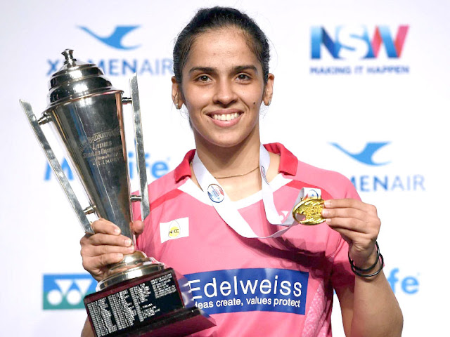 Indian badminton player saina nehwal