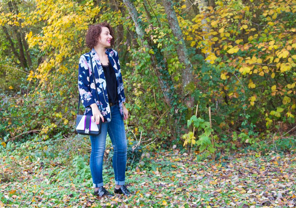 La veste fleurie, inspiration Japon