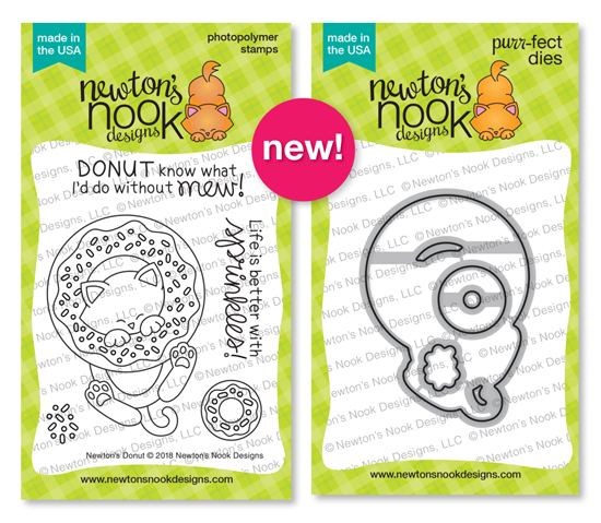 Newton's Donut Stamp Set and Die Set by Newton's Nook Designs #newtonsnook