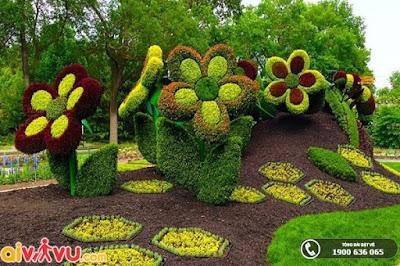 Vườn Bách thảo Moscow – nơi có trăm hoa đua nở.