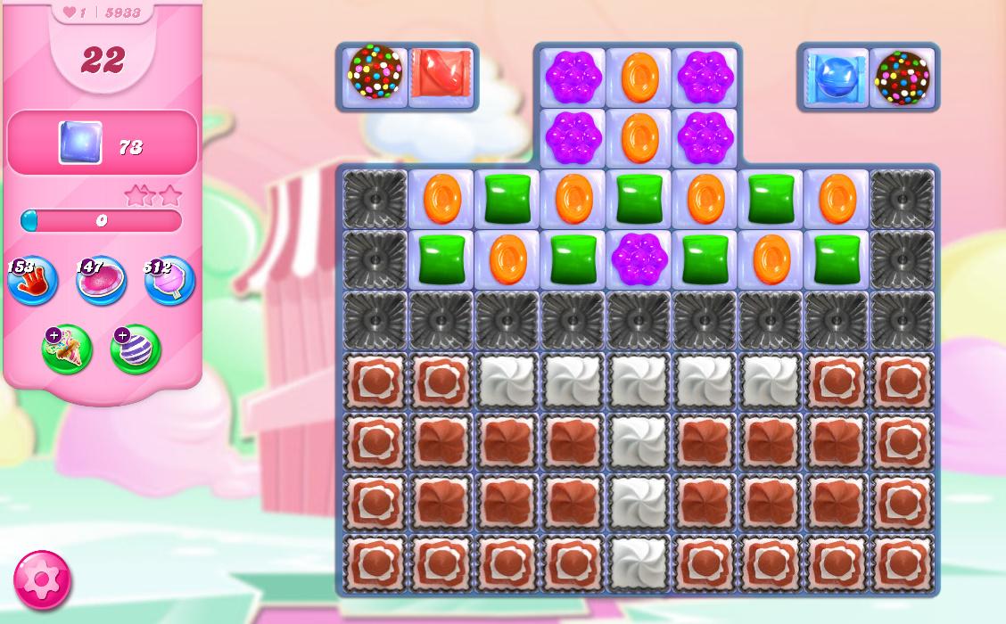 Candy Crush Saga level 5933