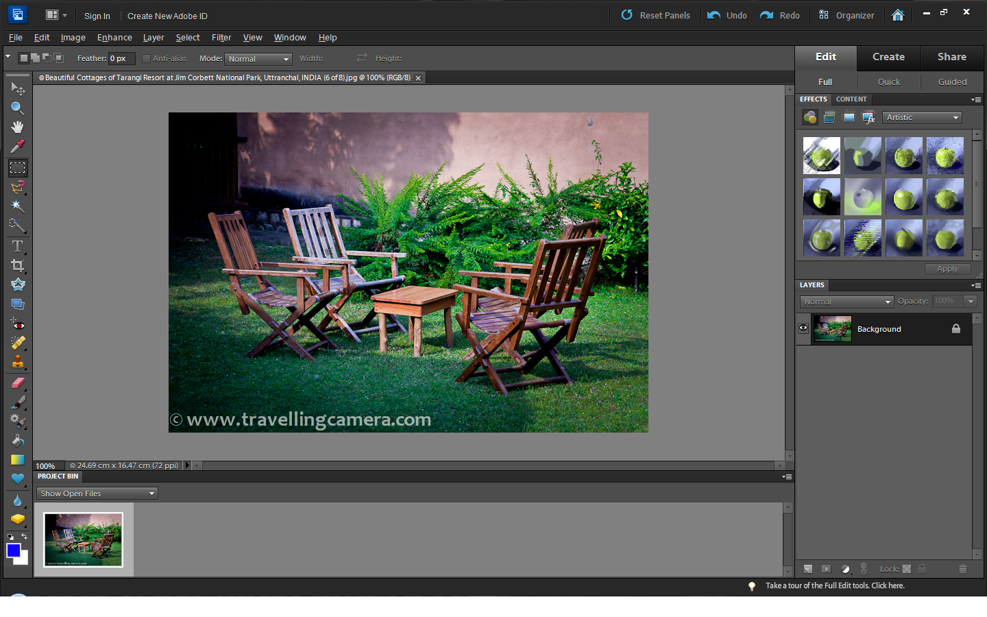 Adding Frames to photographs in Adobe Photoshop Elements