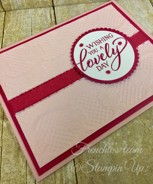 Card, Forever Lovely, Lace Embossing Folder, Valentine