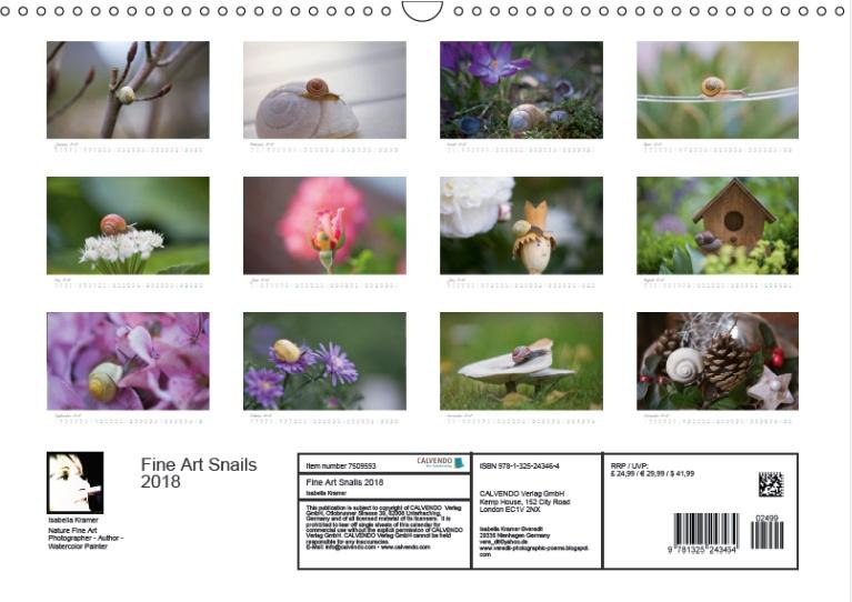Calendar Fine Art : Kinder gedichte welt new fine art snail calendar