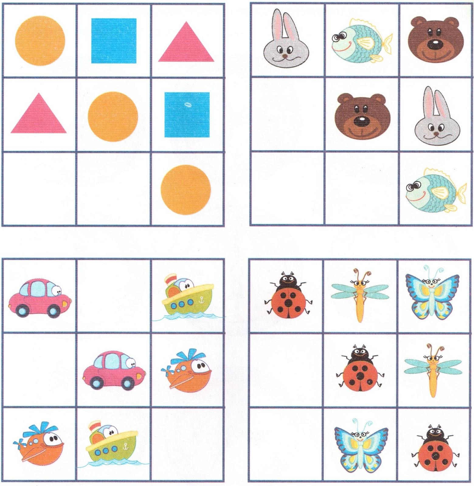 Картинки логических упражнений для средней группы