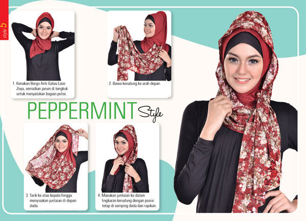 Model Hijab Terbaru Segi Empat Zoya