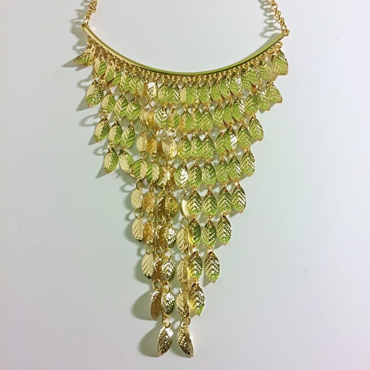 Walmart gold leaf tiered necklace