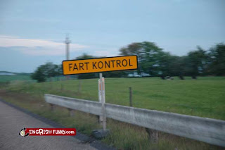 fart control funny road sign