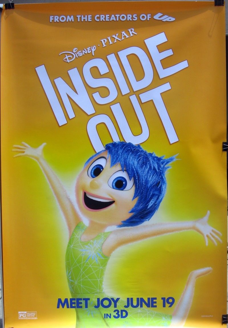 Pixar Post Products Inside Out Sadness Joy 4x6 Bus Poster