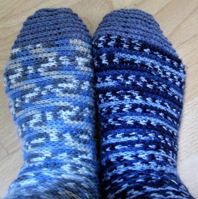 A Wordy Woman Scrap Socks Crocheted
