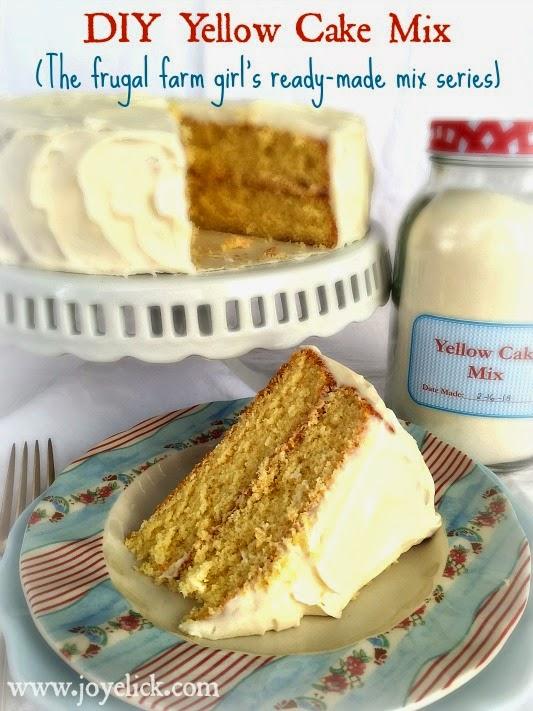 Homemade Yellow Cake Mix Plus Diy Cake Flour The Frugal Farm