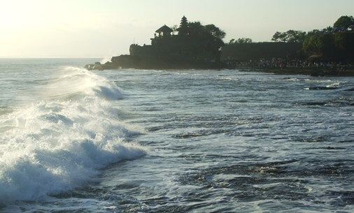 Tanah Lot Temple Bali - Sunset And Holy Snake