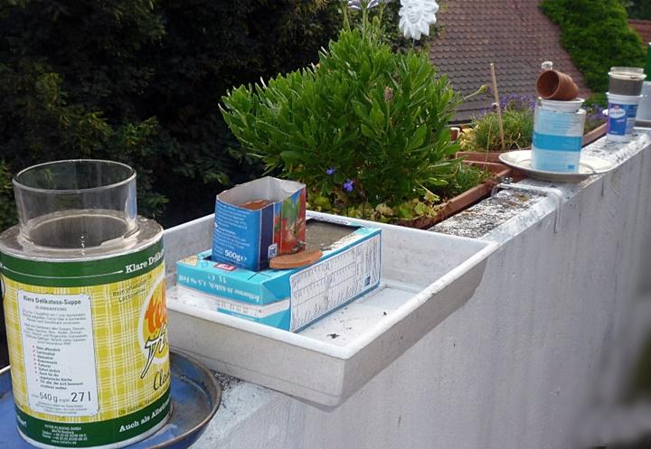 Betongefaesse giessen - DIY - vonKarin - upcycling - Pflanzbehaelter Beton