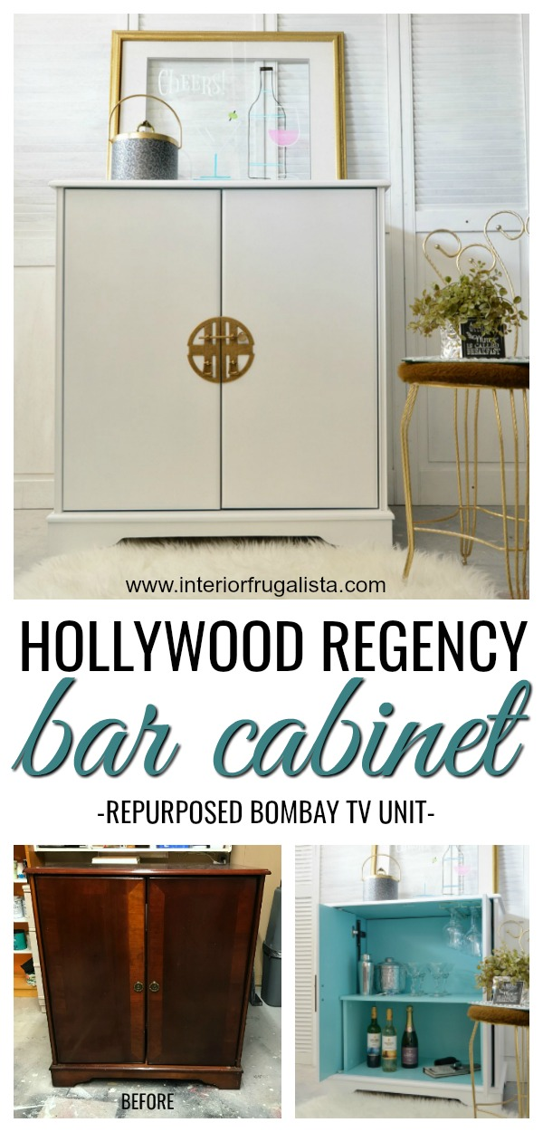 Hollywood Regency Bar Cabinet