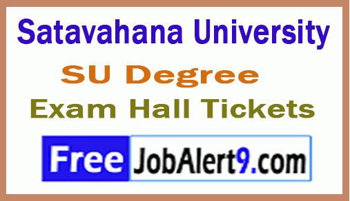 Satavahana University SU Degree Exam Hall Ticket Download