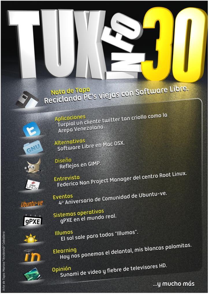 TuxInfo Nro. 30 – Reciclando PC's viejas con Software Libre