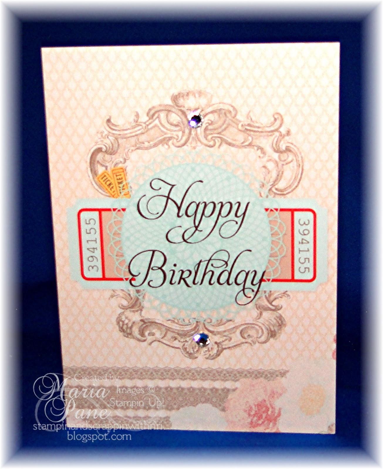 Stampin And Scrappin With Ri Ri: BIRTHDAY CARD FOR TINA