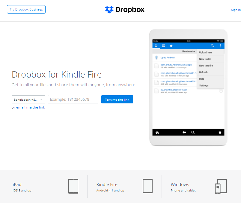 RE: How to install Dropbox on Amazon Kindle Fire HD?