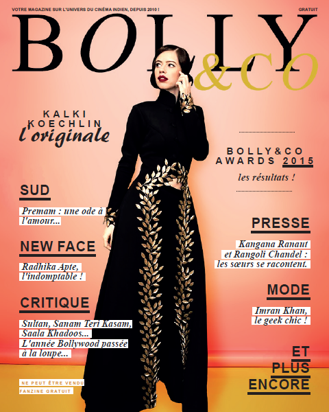 cover magazine français sur le cinéma indien avec actrice Kalki Koechlin