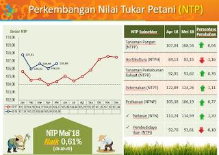 Mei 2018, Nilai Tukar Petani NTB Naik 0,61 Persen