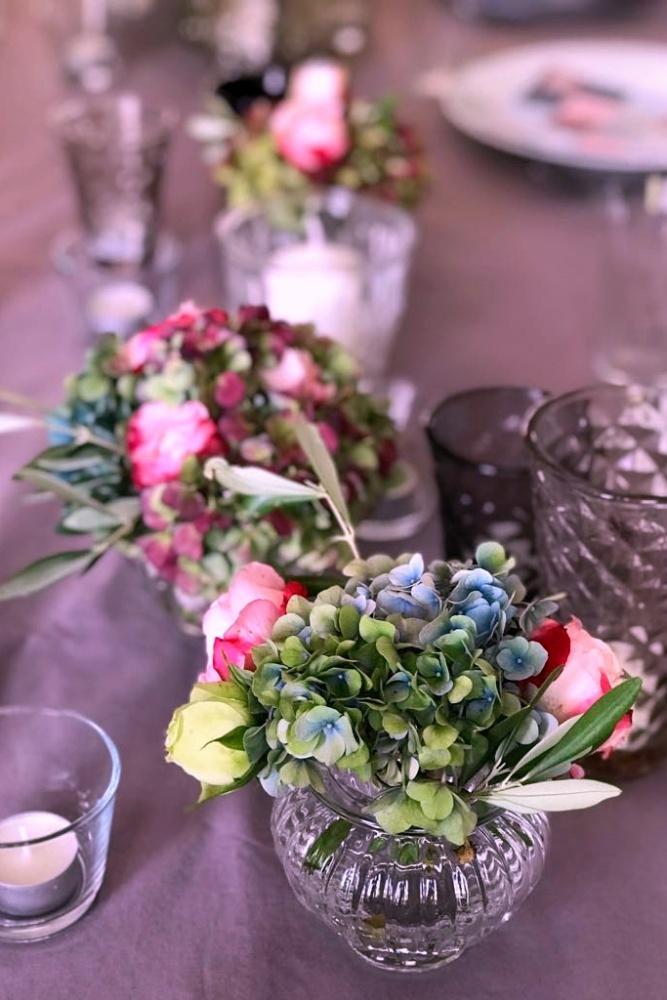 Blumendeko Tischdeko