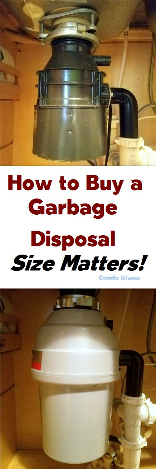 how to buy a garbage disposal size matters