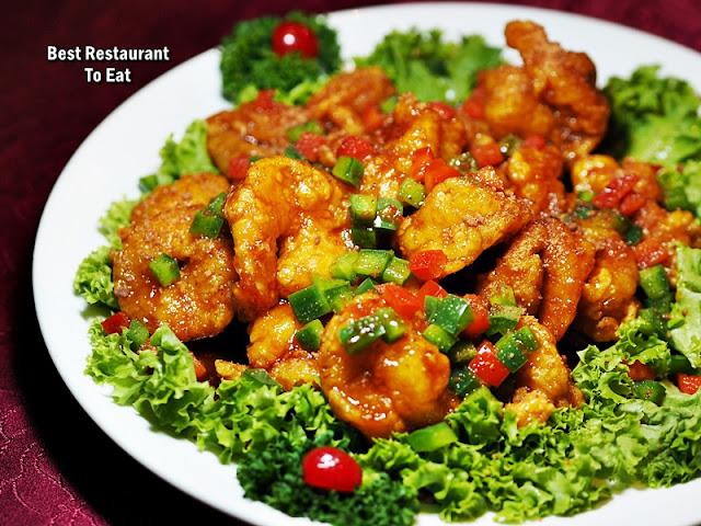 Li Yen CNY 2019 Menu - Stir-Fried Prawns with Hawthorn Flakes Sauce