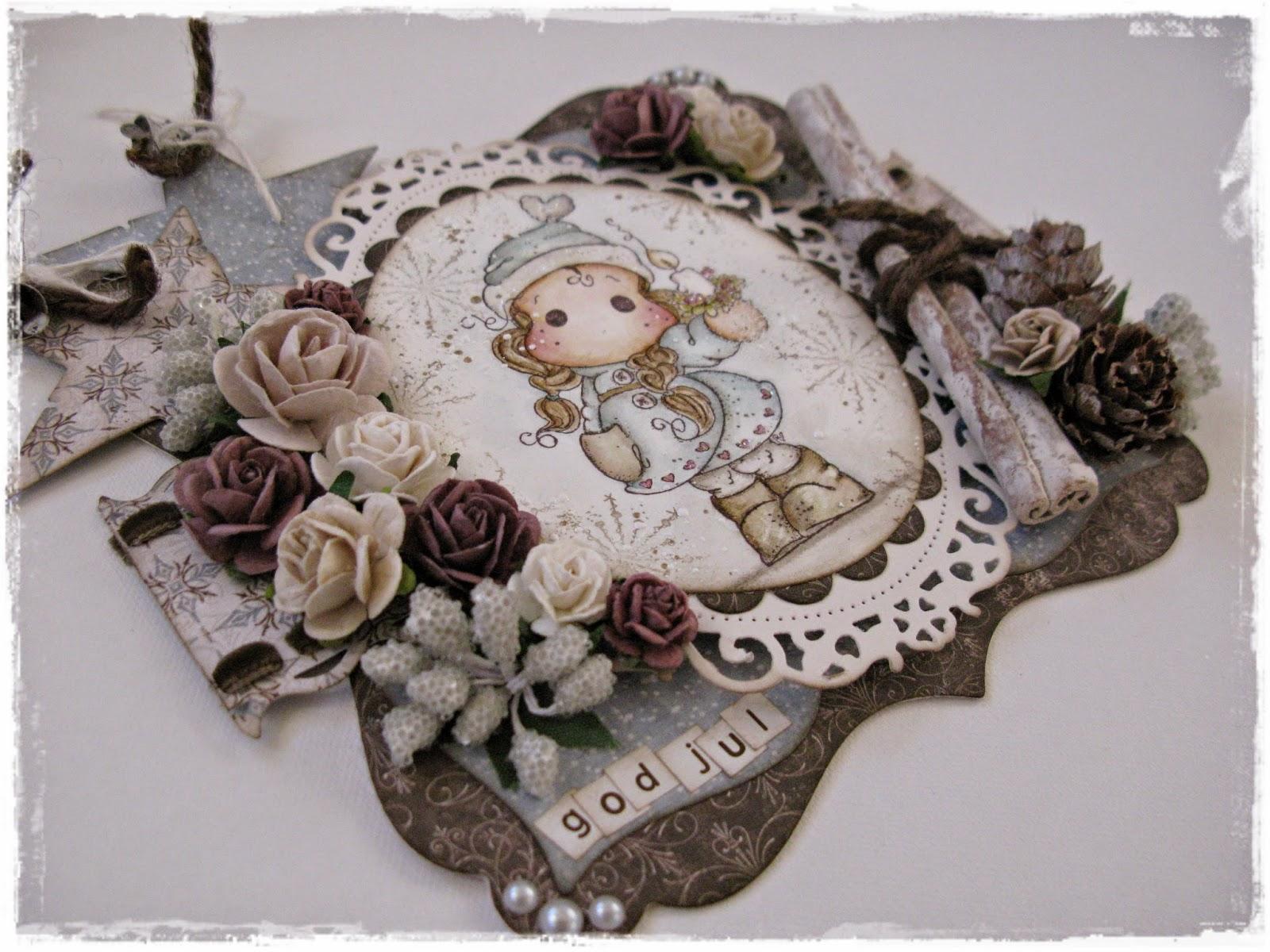 Kortet är dekorerat med blommor från WOC 3f81e90e7356a