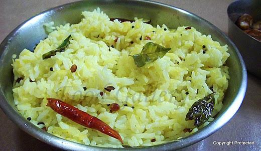 mamidikaya pulihora, raw mango rice