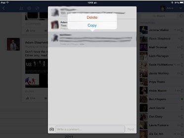 how to delete a comment someone else made on facebook